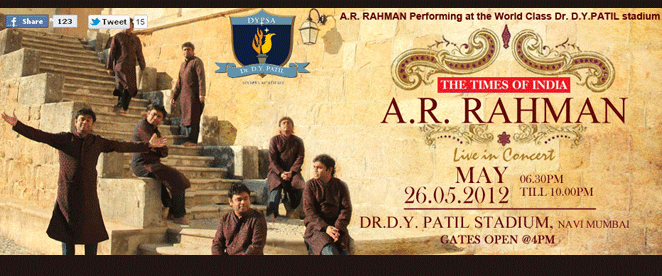 The Times Of India – A.R.Rahman Live In Concert